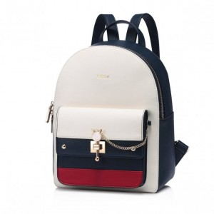 NUCELLE 2018 New British Style Casual Backpack Blue-Red-White L