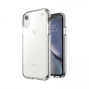 Speck Presidio Clear with Glitter - Etui iPhone XR (Gold Glitter/Clear)