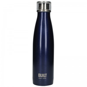 BUILT Perfect Seal Vacuum Insulated Bottle - Stalowy termos próżniowy 0,5 l (Midnight Blue)
