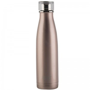 BUILT Perfect Seal Vacuum Insulated Bottle - Stalowy termos próżniowy 0,5 l (Rose Gold)